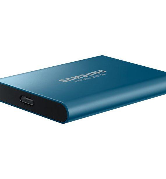 Disco duro externo SSD Samsung 250 GB azul metálico