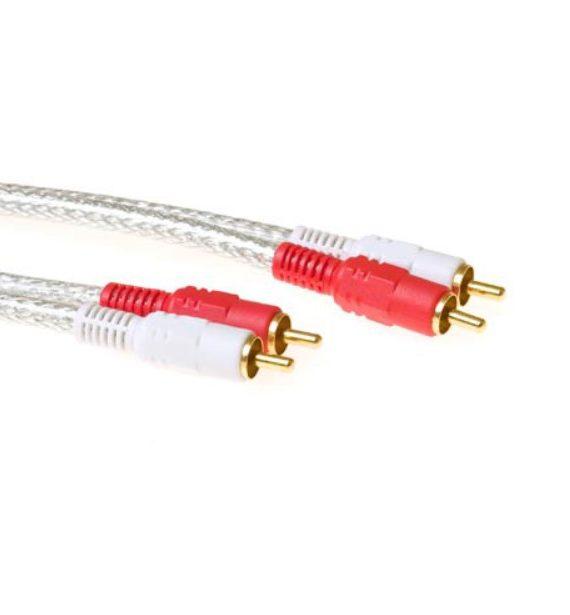 Cable audio 2x RCA macho a 2x RCA macho 2,00 m alta calidad (AK2220) 2